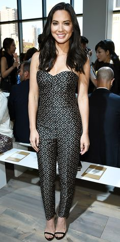 Look of the Day - September 11, 2014 - Olivia Munn in Michael Kors from #InStyle