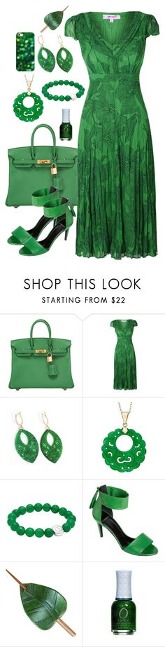"""""""Green"""" by lunar-exorcism ❤ liked on Polyvore featuring Hermès, Per Una, Anzie, Pierre Hardy and Casetify"""