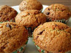 chocolate sourdough muffins