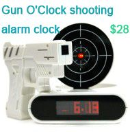 INFMETRY: gun alarm clock. for when you feel like shooting it in the am