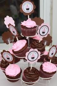 chocolate cupcake with pink icing