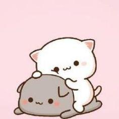 Kawaii Anime, Cute Anime Cat, Kawaii Cat, Cute Cat Gif, Cute Bear Drawings, Cute Animal Drawings Kawaii, Cute Little Drawings, Cute Cat Drawing, Cute Cartoon Images