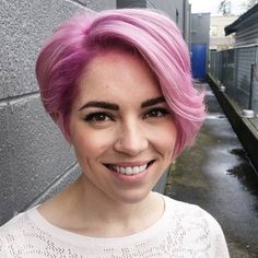 Pastel Pink Hair Color For Thin Hair