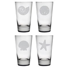 4-Piece Seashore Highball Glass Set