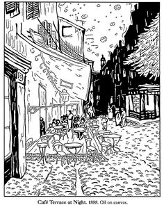 Van Gogh Coloring Pages | Color Your Own Van Gogh Paintings coloring page