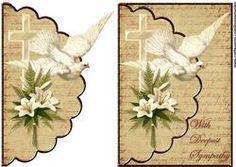 Omhullen Sympathy Duif, kruis en Lillies
