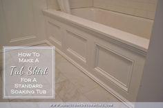 DIY Tub Skirt (Decorative Side Panel) For A Standard Apron-Side Soaking Tub