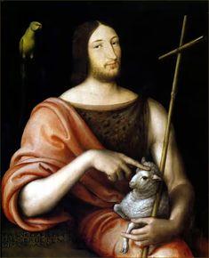 FrançoisIer, roi de France, en saint Jean-Baptiste, à 24 ans, par Clouet