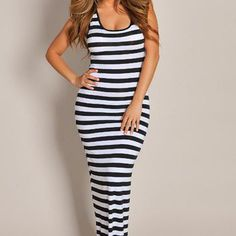 Striped Maxi Dress | Clothing | ChichiMe