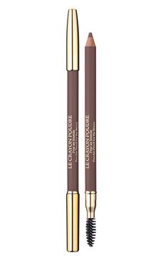 Lancôme 'Le Crayon Poudre' Brow Powder Pencil in Taupe.  I USE THIS FOR EVERYTHING!  Seriously, it is amazing.  I use it on my brows.  I line the outside of my lips with it (sounds weird, but try it and blend!) I also use it to draw a line from the corner of the outside of my eye to the end of my brows.  I blend it in and get asked if I've had a facelift.  Takes two seconds to do.