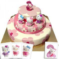 hello kitty taart   bijzonder mooie taart met hello kitty erop
