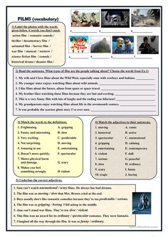 Films (vocabulary exercises)