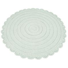 In a unique round shape, this grey bath mat features a design of varying textures with a pretty border that boasts sophistication. Girl Room, Girls Bedroom, Grey Bath Mat, Crochet Carpet, Magic Carpet, Mint Color, Inspiration For Kids, Kidsroom, Nursery Room