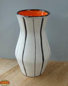 Vintage ... Vase VALLAURIS Maunier Orange