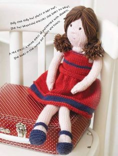 Polly the Dolly Toy Knitting Pattern - DOWNLOAD ONLY | sewandso