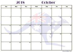 Online October 2018 Calendar Printable October Calendar, Blank Calendar, Calendar 2018, Printable Calendar Template, Word Templates, Printables, Landscape, Words, Holiday