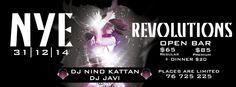 This #NYE we're dumping off the resolutions and getting in with a real #SHOWCASE_REVOLUTIONS!! We'll be dancing off #bar_poles, basking in #led_tubes, and ushering in 2015 with #DJs Nino Kattan and #Javi kicking it till dawn, #drinks' a flowing with an #open_bar, optional bites, and one heck of a venue. Jounieh, Old Souks street  Wednesday, December 31 at 9:00pm  see more: http://goo.gl/HaFmtd