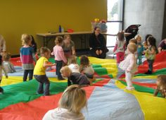Parachute Play: with babies and toddlers