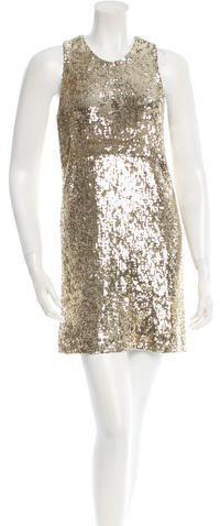 "Tory Burch Sleeveless Sequin Mini Dress // As seen on Serena Van der Woodsen, played by Blake Lively, in Gossip Girl episode 1x01, ""Pilot."""