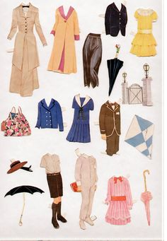 "My Joan Crawford paper doll in costume from the 1934 film ""Sadie McKee"". Michael Mary Poppins, Mary Poppins Characters, History Of Paper, Jane And Michael, Disney Paper Dolls, Paper Doll House, Paper Animals, Julie Andrews, Joan Crawford"