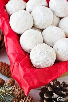 Russian Teacakes (a.k.a. Snowball Cookies, Mexican wedding cakes). Buttery, melt-in-your-mouth cookies.