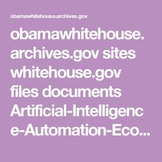 obamawhitehouse.archives.gov sites whitehouse.gov files documents Artificial-Intelligence-Automation-Economy.PDF