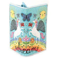 Ashley M Rainbow, Flowers, Butterflies & Pegasus Unicorns Vegan Wallet