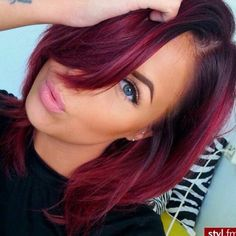 hair color ideas for brunettes with red