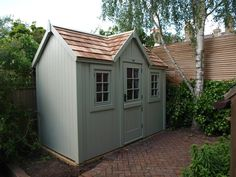 The posh shed company painted in Farrow and Ball French Grey.
