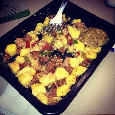 The shrimp and Andouille sausage scramble from Diet-to-Go was such a yummy breakfast!