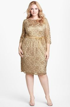 Alex Evenings Metallic Lace Dress (Plus Size) available at #Nordstrom