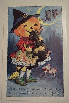 Vintage Whitney Halloween Postcard   Flickr - Photo Sharing!