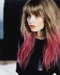 dip dyed hair Trend alert! Dip dyed hair is the new Ombré... or take inspiration from Katy Perry with all over lavender, peach or pink