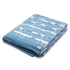 Otto & Spike - Neighbourhood Light Blue Cot Blanket | Peter's of Kensington