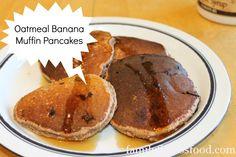 Oatmeal Banana Muffin Pancakes