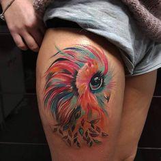 Watercolor Owl Tattoo | Venice Tattoo Art Designs