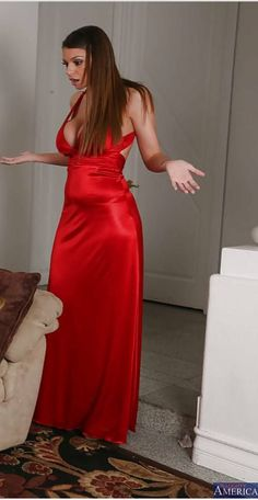 Silk Satin Dress, Silky Dress, Satin Skirt, Satin Dresses, Sexy Dresses, Red Satin, Silk Evening Gown, Evening Dresses, Blouse Dress