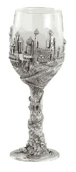 OOH-hoohoo!  Neat!!  City of Tirion Wine Glass | Lord of the Rings Pewter Goblets Shop