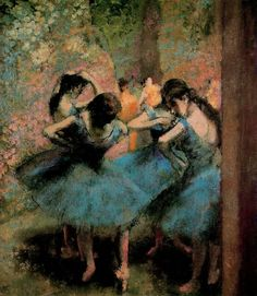 Bailarinas de azul > Degas (ballerinas in blue)