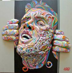 shaka - 3d - paintings - French artist Marchal Mithouard