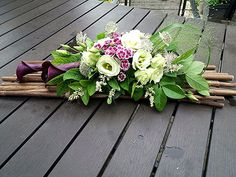 Pin by Charlene Lyons on Gravesite holiday decorations Funeral Flower Arrangements, Flower Arrangements Simple, Artificial Flower Arrangements, Funeral Flowers, Flower Centerpieces, Artificial Flowers, Flower Decorations, Holiday Decorations, Deco Floral