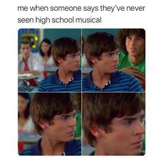 Funny Black Memes, Crazy Funny Memes, Really Funny Memes, Funny Relatable Memes, Haha Funny, Hilarious, High School Musical Quotes, High School Musical Cast, Zac Efron High School