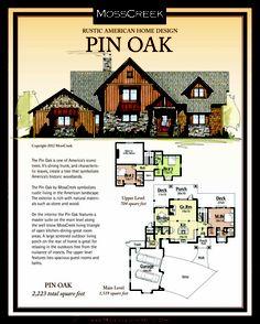 www.MossCreek.net Rustic American Home Design - log cabin, log home, timber frame, house plans