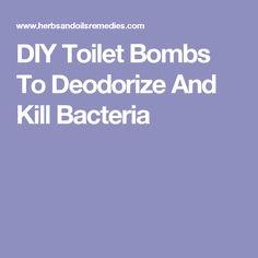 DIY Toilet Bombs To Deodorize And Kill Bacteria