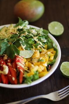 Thai Salad with Curry Coconut Dressing