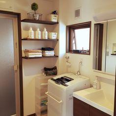 タオル/タオル収納/IKEA/洗濯機/トゥシェ/無印良品…などのインテリア実例 - 2016-03-20 10:19:45 | RoomClip(ルームクリップ)