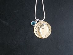 Personalized Dolphin Charm Necklace by annsterw on Etsy, $27.00