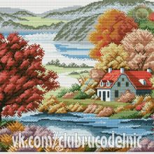 Cross Stitch Charts, Cross Stitch Patterns, Cross Stitch Landscape, Cross Stitch Flowers, Photo Wall, Painting, Christmas, Scenery, Blue Prints