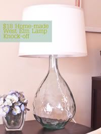Home-made Pottery Barn/West Elm Lamp Knock-Off