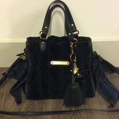 Juicy Couture Handbag In good condition. Zipper closure with a removable strap. Navy blue Juicy Couture Bags Shoulder Bags